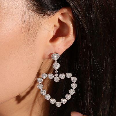 Pendants d'Oreilles Cœur Diamant