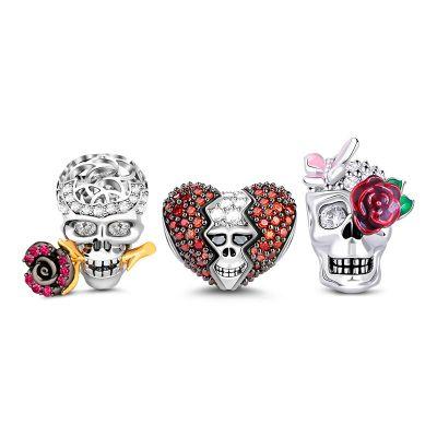 Crâne et Rose