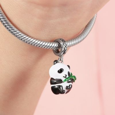 Pendentif Panda et Bambou