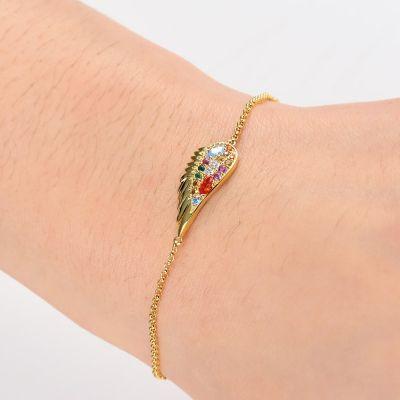 Bracelet à Aile Multicolore