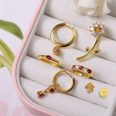 Set Boucles d'Oreilles Fleur