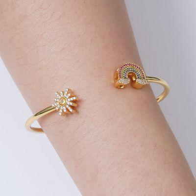 Bracelet Jonc Arc-en-Ciel et Soleil