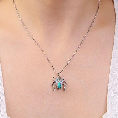 Collier Araignée Turquoise