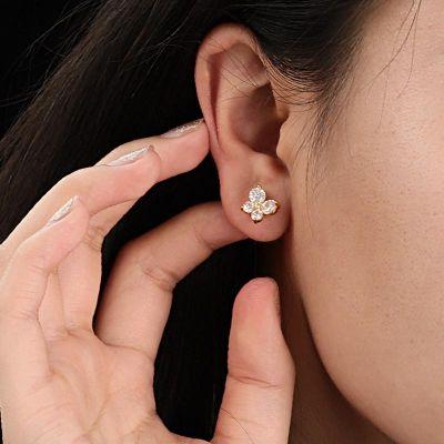 Clous d'Oreilles Papillon Diamant