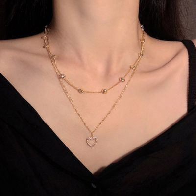 Collier Superposé Cœur