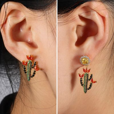 Boucles d'Oreilles Cactus Multicolore