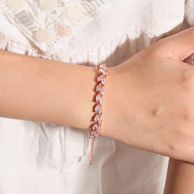 Bracelet Ajustable Feuille d'Olivier