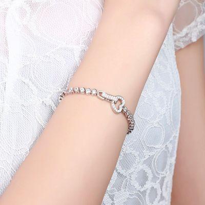 Tennis Bracelet Boucle Cœur
