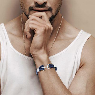 Bracelet Ancre Bleu