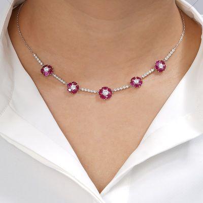 Red Floweret Necklace