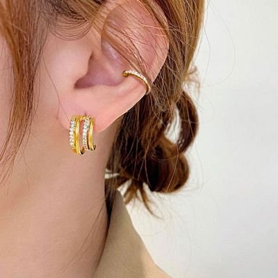 Hoop Ear Cuff 18k Gold Plated 925 Sterling Silver