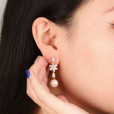 Boucles d'oreilles Perle fleur