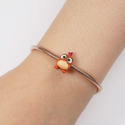 Charm Petit Oiseau Orange