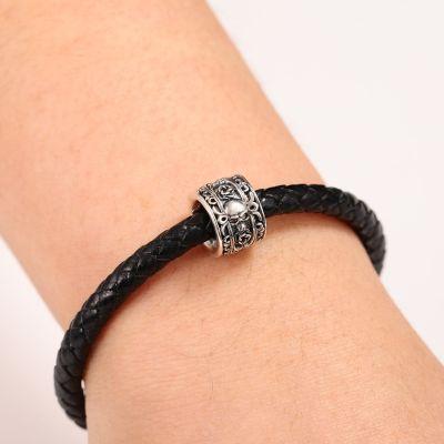 Bracelet Charm Crâne & Rose