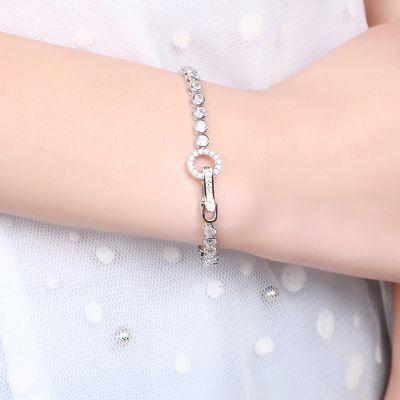 Tennis Bracelet Boucle Ronde